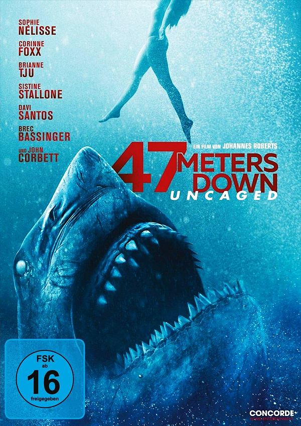 47 Meters Down: Uncaged - DVD Blu-ray Cover FSK 16
