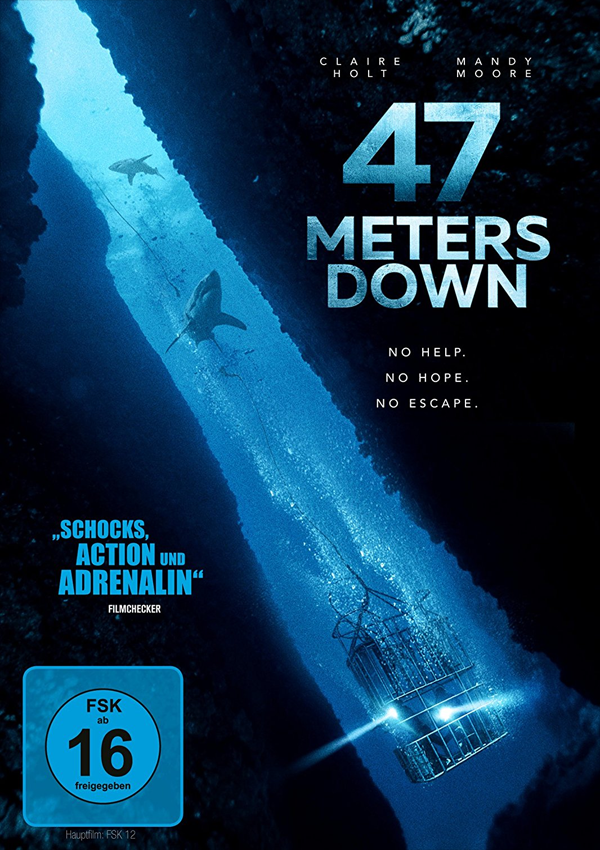 47 Meters Down - Blu-ray DVD Cover FSK 16