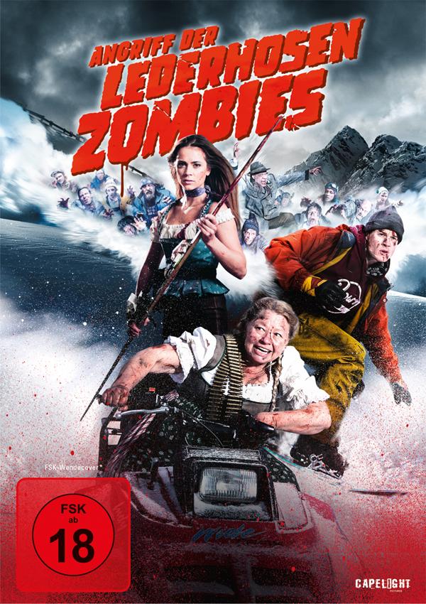 Angriff der Lederhosen Zombies - DVD Blu-ray Cover FSK 12