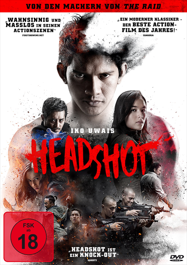 Headshot - DVD Blu-ray Cover FSK 18