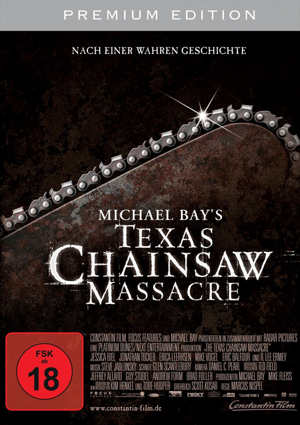 Michael Bay's Texas Chainsaw Massacre - Blu-ray DVD Cover FSK 18