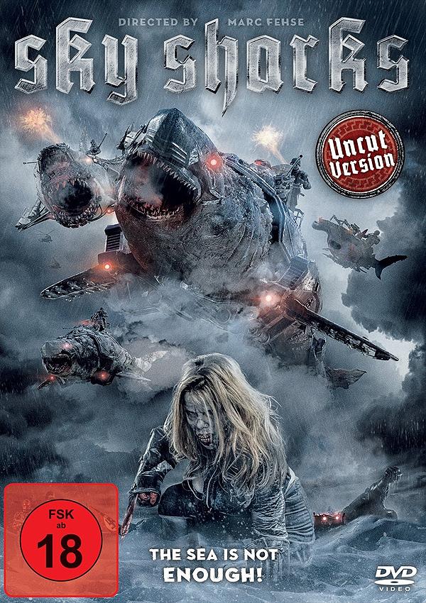 Sky Sharks - DVD Blu-ray Cover FSK 18