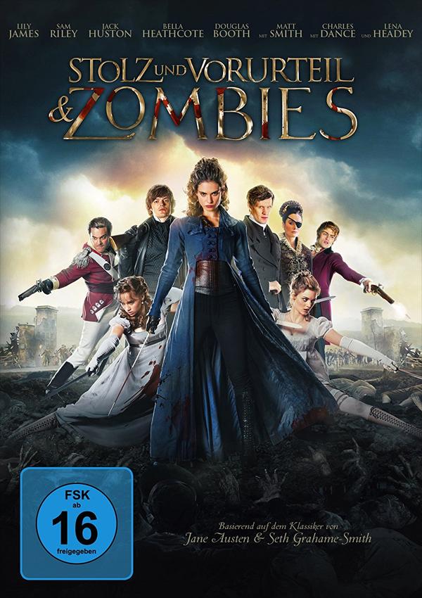 Stolz und Vorurteil & Zombies - DVD Blu-ray Cover FSK 16