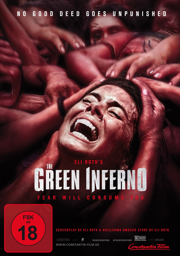 The Green Inferno - DVD Blu-ray Cover FSK 18