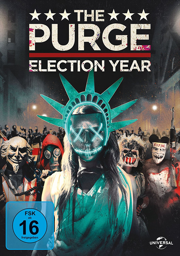The Purge: Election Year - DVD Blu-ray Cover FSK 16