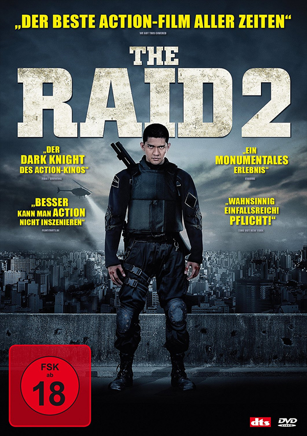 The Raid 2 - DVD Blu-ray Cover FSK 18