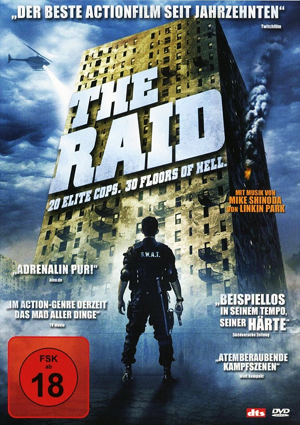 The Raid - DVD Blu-ray Cover FSK 18