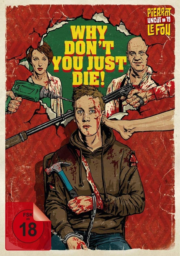 Why Don't You Just Die! - DVD Blu-ray Cover FSK 18
