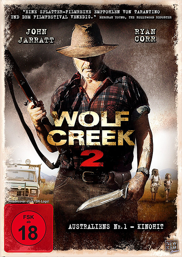Wolf Creek 2 - Blu-ray DVD Cover FSK 18