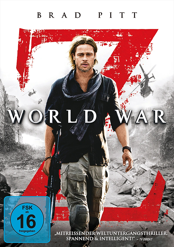 World War Z Extended Director's Cut - DVD Blu-ray Cover FSK 16